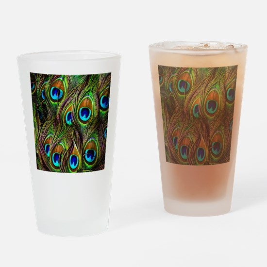 Peacock Feathers Invasion Drinking Glass