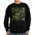 Peacock Feathers Invasion Sweatshirt (dark)