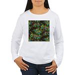 Peacock Feathers Invas Women's Long Sleeve T-Shirt