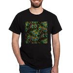 Peacock Feathers Invasion Dark T-Shirt