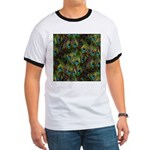 Peacock Feathers Invasion Ringer T