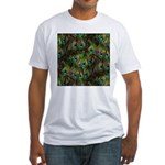 Peacock Feathers Invasion Fitted T-Shirt