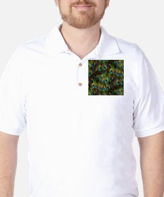 Peacock Feathers Invasion Golf Shirt