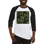 Peacock Feathers Invasion Baseball Jersey