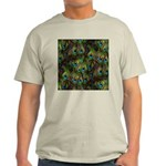 Peacock Feathers Invasion Light T-Shirt