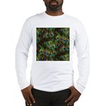 Peacock Feathers Invasion Long Sleeve T-Shirt
