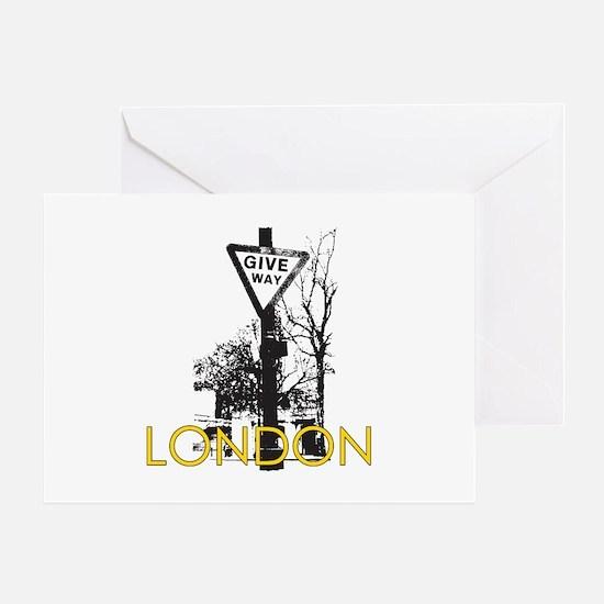 London Landmarks: Give Way Greeting Card