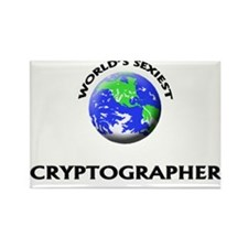 World's Sexiest Cryptographer Rectangle Magnet