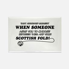 Scottish Fold designs Rectangle Magnet