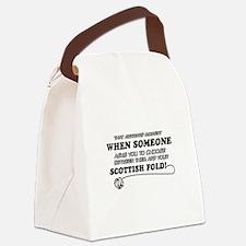 Scottish Fold designs Canvas Lunch Bag