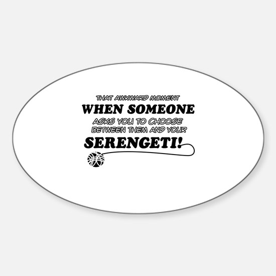 Serengeti designs Sticker (Oval)