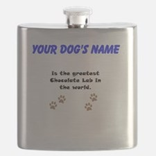 Greatest Chocolate Lab In The World Flask