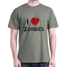I Love Zombies T-Shirt