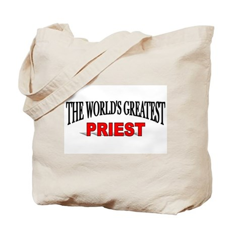 """The World's Greatest Priest"" Tote Bag"