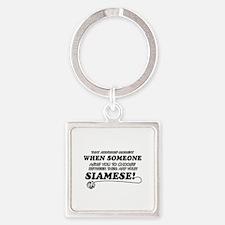 Siamese designs Square Keychain