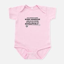 Singapura designs Infant Bodysuit