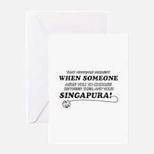 Singapura designs Greeting Card