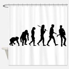Evolution of the Guitarist Shower Curtain