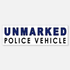 Unmarked Police Car Bumper Bumper Bumper Sticker