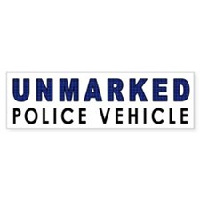 Unmarked Police Car Bumper Bumper Sticker