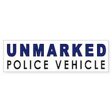 Unmarked Police Car Bumper Bumper Sticker