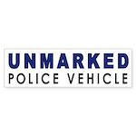 Unmarked Police Car Bumper Sticker