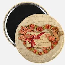 Vintage Valentine Collage Heart Magnet