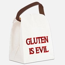 GLUTEN IS EVIL 2 Canvas Lunch Bag