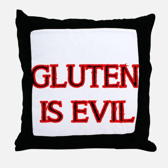 GLUTEN IS EVIL 2 Throw Pillow