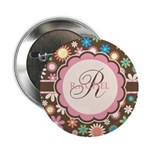 Personalized Name Flower Pattern 2.25