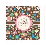 Personalized Name Flower Pattern Posters