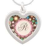 Personalized Name Flower Pattern Necklaces