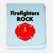FIREFIGHTERS ROCK baby blanket