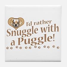 Snuggle Puggle Tile Coaster