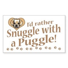 Snuggle Puggle Rectangle Decal