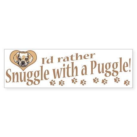 Snuggle Puggle Bumper Sticker