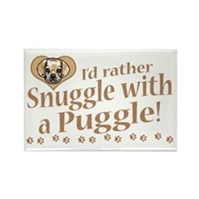 Snuggle Puggle Rectangle Magnet