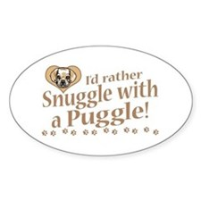Snuggle Puggle Oval Decal