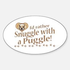 Snuggle Puggle Oval Decal