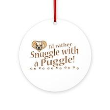 Snuggle Puggle Ornament (Round)