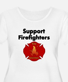 SUPPORT FIREFIGHTER Plus Size T-Shirt