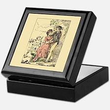 Vintage Cupid Anchor Valentine Keepsake Box