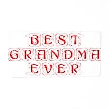 best-grandma-ever-kon-red Aluminum License Plate
