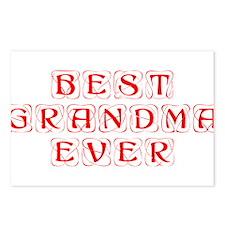 best-grandma-ever-kon-red Postcards (Package of 8)