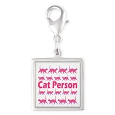 Pink Cat Person Charms
