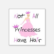 Bald Princess Sticker