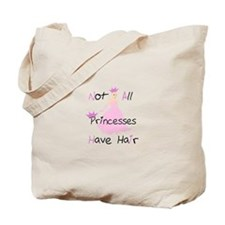 Bald Princess Tote Bag