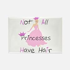 Bald Princess Rectangle Magnet