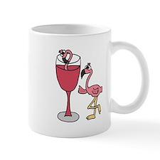 Flamingo in Wine Glass Mug