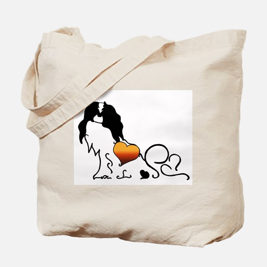 Silhouette Japanese Chin Tote Bag